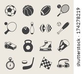 set of sport icons. | Shutterstock .eps vector #174278219