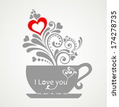 i love you  valentine's day... | Shutterstock .eps vector #174278735