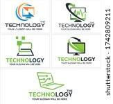 green black symbol computer... | Shutterstock .eps vector #1742809211