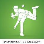Baseball Player Action Cartoon...