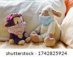 Two Childrens Plush Stuffed...