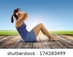 woman and slim body    Shutterstock . vector #174283499