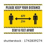 please keep your distance sign. ...   Shutterstock .eps vector #1742839274
