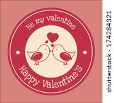 love design over pink ... | Shutterstock .eps vector #174284321
