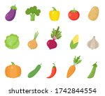 set of colorful cartoon...   Shutterstock .eps vector #1742844554