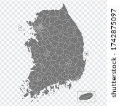 blank map south korea. high...