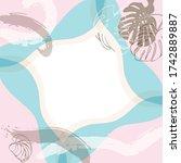 scarf floral pattern. bandana ...   Shutterstock .eps vector #1742889887