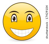 smile icon on a white... | Shutterstock .eps vector #17429104
