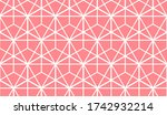 the geometric pattern with... | Shutterstock . vector #1742932214
