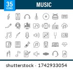 music icon in flat style. music ... | Shutterstock .eps vector #1742933054