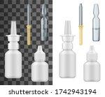 medicine drop bottles  dropper...   Shutterstock .eps vector #1742943194
