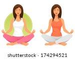 beautiful young woman...   Shutterstock .eps vector #174294521