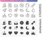 trendy line icons for web and...