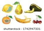 garden fruits with skin covered ... | Shutterstock .eps vector #1742947331