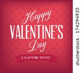happy valentine's day text on... | Shutterstock .eps vector #174294935