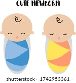 cute newborn illustration...   Shutterstock .eps vector #1742953361