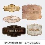 set of vintage labels  vector...   Shutterstock .eps vector #174296237