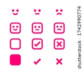 pink icon emotions face ... | Shutterstock .eps vector #1742990774