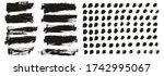 flat paint brush thin short... | Shutterstock .eps vector #1742995067