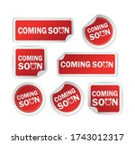 red coming soon sticker on... | Shutterstock .eps vector #1743012317