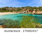 rocks bay beach azure sea water ... | Shutterstock . vector #174302417