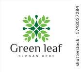 logo design simple and elegant... | Shutterstock .eps vector #1743027284