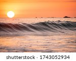 Surfing Beach Costa Rica Sunset