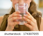closeup on young housewife... | Shutterstock . vector #174307055