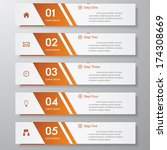 design clean number banners... | Shutterstock .eps vector #174308669