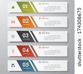 design clean number banners... | Shutterstock .eps vector #174308675