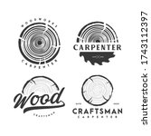 wood and carpenter logo  icon... | Shutterstock .eps vector #1743112397