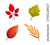 set of bright colorful autumn... | Shutterstock .eps vector #1743118427