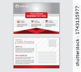 corporate postcard template...   Shutterstock .eps vector #1743135977