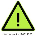 rounded triangle shape hazard... | Shutterstock . vector #174314525