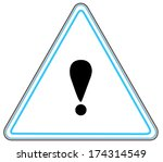 rounded triangle shape hazard... | Shutterstock . vector #174314549