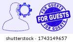 geometric user options gear... | Shutterstock .eps vector #1743149657