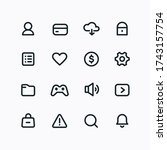 vector simple icons for...