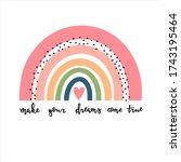 make your dreams come true... | Shutterstock .eps vector #1743195464