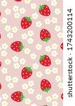 Strawberry Patterns  Flower...