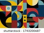 abstract vector geometric... | Shutterstock .eps vector #1743200687
