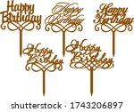 'happy Birthday' Cake Topper...