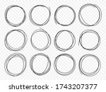 hand drawn circle line sketch... | Shutterstock .eps vector #1743207377