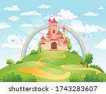 fairytale landscape  the road... | Shutterstock .eps vector #1743283607