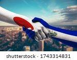 shaking hands japan and el...   Shutterstock . vector #1743314831