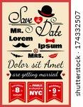 wedding invitation card or...   Shutterstock .eps vector #174332507
