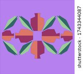eternity of pomegranate.flyer...   Shutterstock .eps vector #1743344087