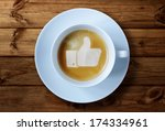 thumbs up or like symbol in... | Shutterstock . vector #174334961
