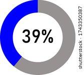 blue and ash circle percentage...