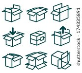 packing and boxes in various...   Shutterstock .eps vector #174335891