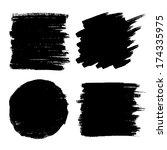 set of hand drawn grunge...   Shutterstock . vector #174335975